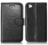 PU Leather + TPU Back Cover Wallet Case Flip Cover Photo Frame Case for iPhone 4/4S