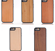 Handmade Natrual Mooden Back Cover Case with TPU Bumper Cover Case for iPhone 6/6S