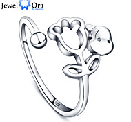 New  Luxurious Adjustable Romantic Accessories 925-Sterling-Silver Jewelry Rings For Women