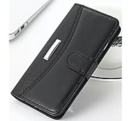New Crazy Horse Pattern Solid PU Leather Material Flip Card Cell Phone Case for iPhone 6 / 6S (Assorted Colors)