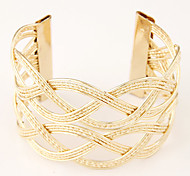 European Style Fashion Wild Hollow Metal Braid Cuff Bracelet