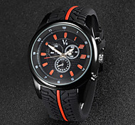 V6 Men's F1 Racing Design Rubber Strap Quartz Casual Watch