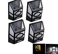 youoklight® 4pcs alta potencia 2x leds de luz montado luz blanca / blanca linterna solar de la cerca luz de la lámpara de pared solar