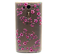 Plum flower Pattern TPU Relief Back Cover Case for LG G3