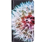 Half Flower Pattern PU Leather Case with Card Slot and Stand for Samsung Galaxy S4 mini/S3mini/S5mini/S3/S4/S5/S6