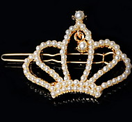 Women's Alloy Crown Imitation pearls Hairpin With Rhinestone