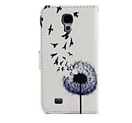 paardebloem patroon pu lederen tas met standaard voor de Samsung Galaxy S3 mini i8190 / S4 mini i9190 / S5 mini