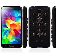 For Samsung Galaxy Case Pattern Case Back Cover Case Punk Genuine Leather Samsung S5