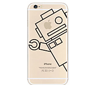 Apple Robot Pattern TPU Soft Case for iPhone 6/6S