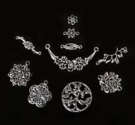 beadia plata antigua colgantes del encanto de la flor de metal oliva Conectores joyería del árbol DIY accesorios