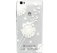 For Huawei Case / P9 / P9 Lite / P8 / P8 Lite Transparent Case Back Cover Case Dandelion Soft TPU for HuaweiHuawei P9 / Huawei P9 Lite /