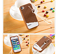 Fabitoo New Fashion Lovely Cute Healthy Cartoon Ice Cream Silica-gel Anti Drop Back Cover Case for iPhone 4/4S