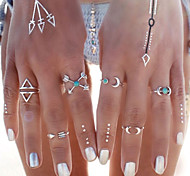 Ring Turquoise Moon Daily / Casual Jewelry Alloy Women Statement Rings / Set 6pcs,One Size Silver-Blue