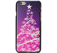 Christmas Style Purple Star Tree Pattern PC Hard Back Cover for iPhone 6