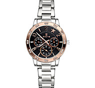 Skone® Women's Chronograph Luminous Hands Star Rhinestone Rose Gold Silver Quartz Watches Cool Watches Unique Watches