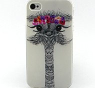 Deer Head Pattern TPU Case for iphone 4G/4S