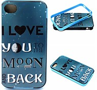 2-in-1 Return To The Moon Pattern TPU Back Cover + PC Bumper Shockproof Soft Case For iPhone 4/4S