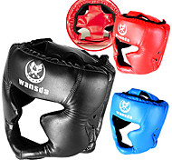 Sanda Boxing Strength Training Athletic Training PU helmet Closed type MMA Muay Thai kick brace protection