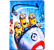 Comedy Small Yellow People Pattern PU Leather Case with Stand and Card Slot for iPad Mini 4