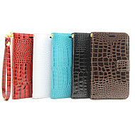 Crocodile pu Leather Belt Around Open Bracket Card Hand Shengpi Sets for Galaxy J1 Ace(Assorted Colors)