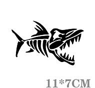 estilo divertido espinas de pescado coche pared de la ventana del coche etiqueta engomada del coche calcomanía