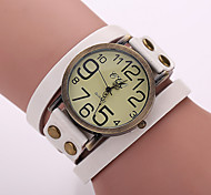 Women'S Watches Vintage Digital Display Leather Quartz Bracelets Watches