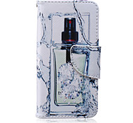 Perfume Bottle Painted PU Phone Case for iphone5/5S