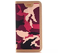 PU Camouflage The Wallet Stents Mobile phone Case for iPhone 6S/iPhone 6 Assorted Color