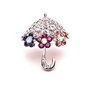 Korean Version Of The New Diamond Brooch Umbrella