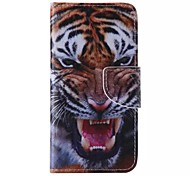 Tiger Pattern Cell Phone Leather For iPhone 6/6S