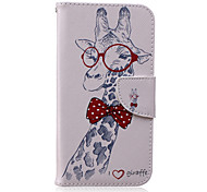 Giraffe Pattern PU Leather Material Flip Card  for Samsung Galaxy Grand Prime/ Core Prime/J1 Ace/J1/J2/J3/J5/J7