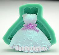 Valentines Princess Party Dress DIY Silicone Chocolate Pudding Sugar Ice Cake Mold