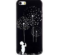 Dandelion Pattern TPU Phone Case for iPhone 5/iPhone 5S