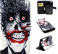 Monster Pattern Flip Card Leather Phone Case for Wiko LENNY