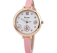 Women's Slim Band Flower Pattern Fashion Watch