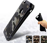 Peak Protect Genuine Leather Camouflage Silica Gel PC Combo Phone Case for iPhone 6/6S(Assorted Colors)