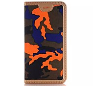 PU Camouflage The Wallet Stents Mobile phone Case for iPhone 6S Plus/iPhone 6 Plus Assorted Color