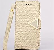 diamant cuir flip design debout portefeuille bracelet cas de couverture de corde pour iphone 6 / 6s, plus