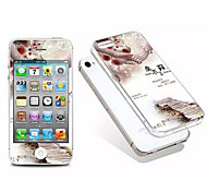 cartoon screen protector gehard membraan en TPU na de soft shell shell combinatie voor iPhone 4 / 4s