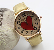 Women's Fashion Personality Love Leather Quartz Belt Watch(Assorted Colors) Cool Watches Unique Watches