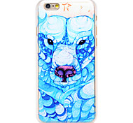 Blue Dragon Head Pattern Transparent PC Back Cover for iPhone 6
