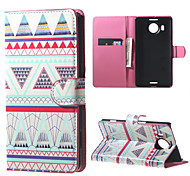 Triangles Pattern Wallet PU Leather Stand Case for  Microsoft Nokia Lumia 950XL N950XL