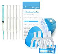 dientes caseros que blanquean el kit de lujo con gel mineral&luz llevada para el diente privada traje de blanqueo