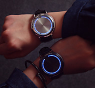 Large Dial LED Touch Screen Couple Watches Men Luxury Brand  Watches Women Dress Quartz Clocks Vintage Students Watch Cool Watches Unique Watches