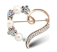 de haute qualité coeur de perles Broche