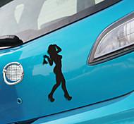 ventanilla del coche etiqueta engomada del coche divertido pared belleza dama estilo coche calcomanía