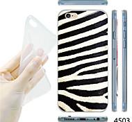 MAYCARI®Zebra-stripe Pattern TPU Soft Transparent Back Case for iPhone 6