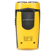 runwe rs867 2 palas recargable afeitadora eléctrica - negro + amarillo (220v)