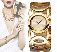 WEIQIN® Women's Luxury 3ATM Waterproof Crystal Round Dial Bracelet Watches with Hollow Strap
