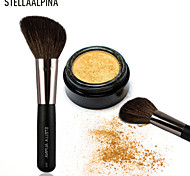 Stellaalpina Contour Brush Goat Hair MAC Makeup Style Portable Wood Face